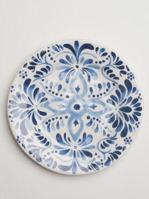 Indigo Pattern Salad Plate