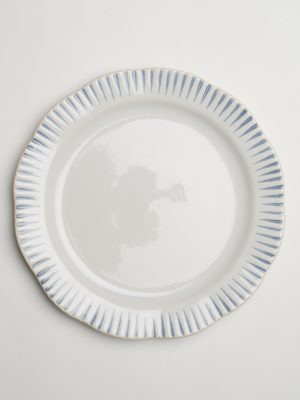 Indigo Stripe Dinner Plate