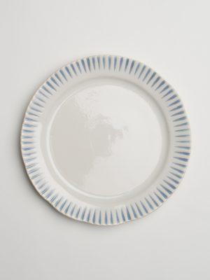 Indigo Stripe Salad Plate