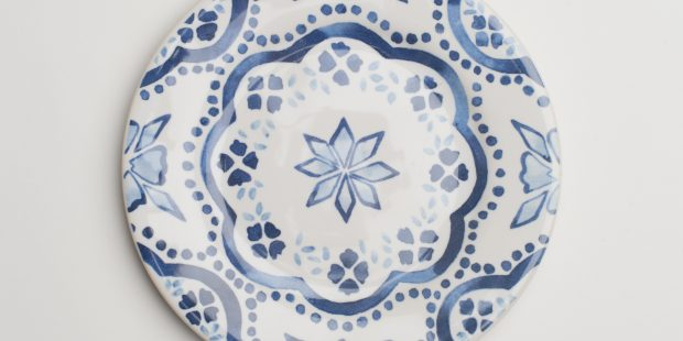 Indigo Pattern Side Plate