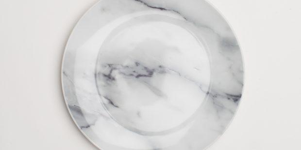 Modern Marble Salad Plate