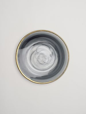 Grey Smoke Salad Plate