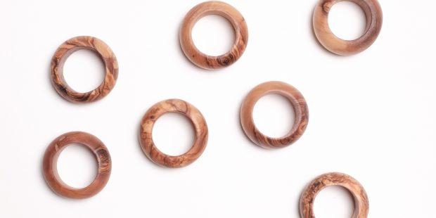Olive Wood Napkin Ring