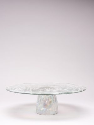 Blown Glass Cake Stand