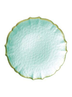 Baroque Salad Plate in Aqua